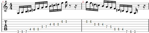 hexatonic whole tone scale