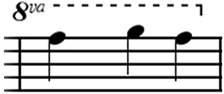 8va notation