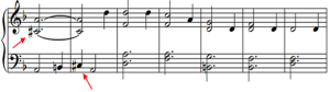 accidental in sheet music