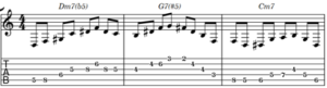 lick on the C minor melodic scale